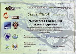 Сертификат Е.А.
